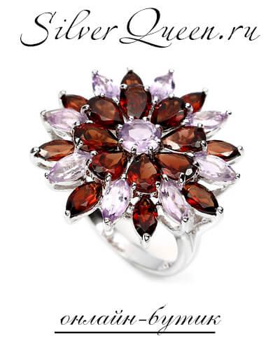 Магазин женских серебряных украшений с камнями