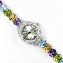 Восхитительные Наручные Женские Часы из Серебра с Натуральными Камнями