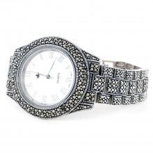 Большие Наручные Часы Женские и Мужские из Серебра с Марказитом