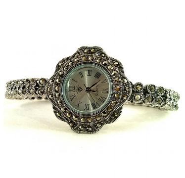 Милые Серебряные Наручные Часы для Женщин Капельное Серебро