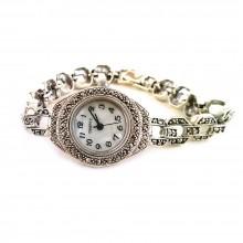 Очаровательные Женские Серебряные Часы с Натуральным Марказитом