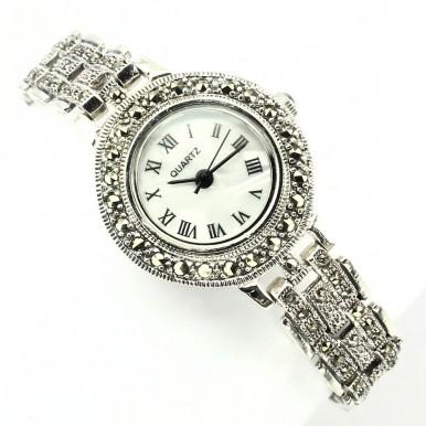 Винтажный Стиль Женские Серебряные Часы Капельное Серебро