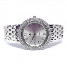 Эксклюзивные Мужские Серебряные Часы с Искусственными Бриллиантами