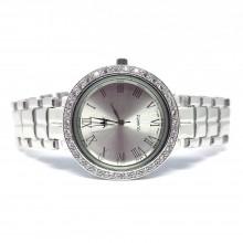 Драгоценные Мужские Наручные Часы из Серебра 925 пробы с Фианитами