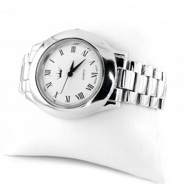 Классические Серебряные 925 Пробы Мужские Наручные Часы (Унисекс)