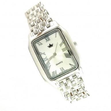 Стильные Мужские Часы из Серебра с Серебряным Браслетом