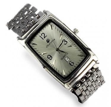 Тяжелые Мужские Серебряные Часы с Роскошным Дизайном