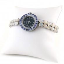Часы из Серебра Женские с Натуральными Опалами и Танзанитами