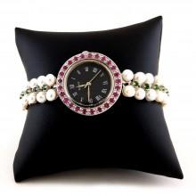 Роскошные Серебряные Часы Женские с Жемчугом и Рубином