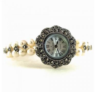 Культивированный Жемчуг и Капельное Серебро Женские Наручные Часы