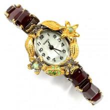 Очаровательные Часы Ручной Работы для Женщин с Природным Рубином