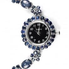 Потрясающие Ювелирные Женские Часы с Натуральным Звездным Сапфиром