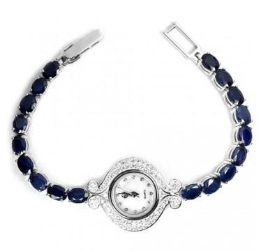 Часы из Серебра 925 для Женщин с Браслетом из Натурального Сапфира