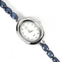 Завораживающие Женские Серебряные Часы со Звездчатым Сапфиром