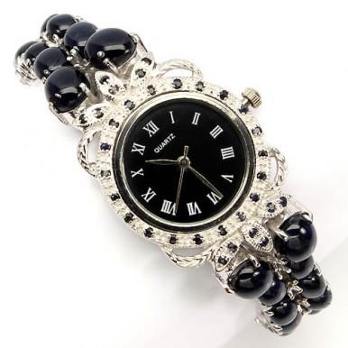 Шикарные Наручные Часы с Редким Звездным Сапфиром для Женщин