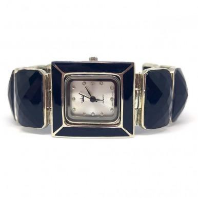 Чёрный Оникс Натуральный Серебряные Часы для Женщин
