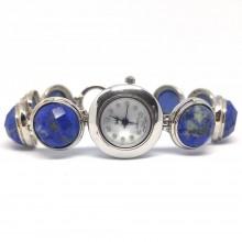 Синий Лазурит Женские Ювелирные Наручные Часы из Серебра