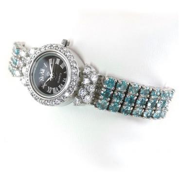 Регулируемые Наручные Часы из Серебра С Апатитом Женские