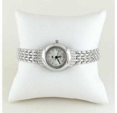Милые Женские Серебряные Часы Ювелирные без Камней с Браслетом