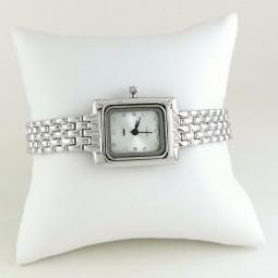 Прямоугольные Часы из Серебра Женские с Серебряным Браслетом